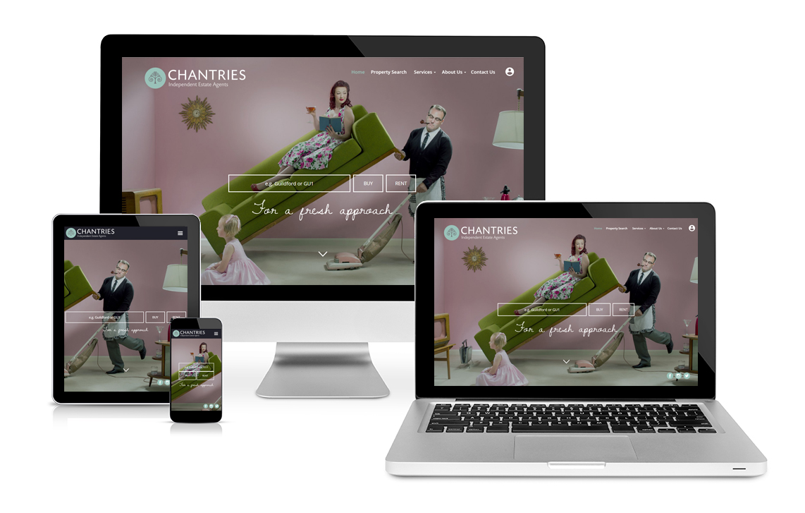 Chantries Estate Agents Responsive website